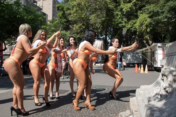 Candidatas a Miss Bumbum (Foto: Marcelo Brammer / Divulgação)