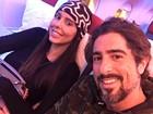Após revelar luta contra um câncer, Suzana Gullo viaja com Marcos Mion