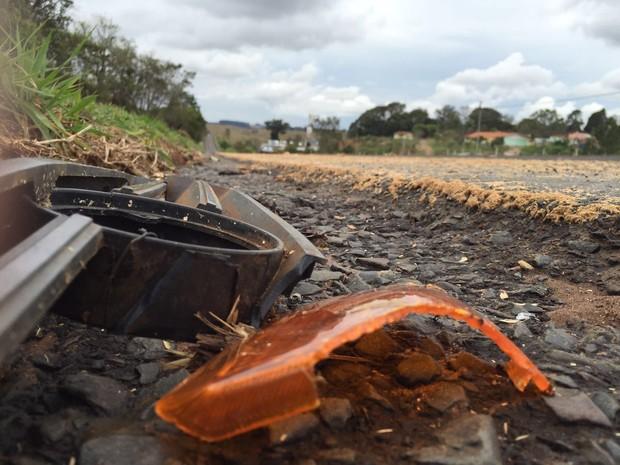 Dentista foi atropelado na Rodovia Marechal Rondon (Foto: Ewerton Vignolli / TV TEM)