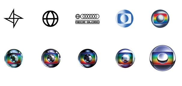Evolução das logomarcas da Rede Globo (Foto: Divulgação Rede Globo)