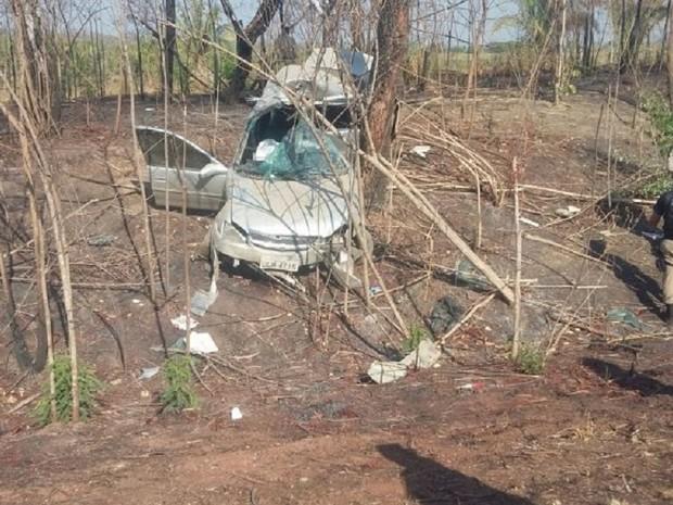Acidente na BR-153 em Miranorte do Tocantins (Foto: Surgiu/Divulgação)