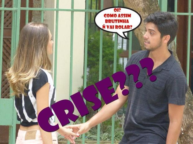 Olha a cara de OI? do Bruno!!! AFF, Fatinha! Deixa de papo errado! (Foto: Malhação / Tv Globo)
