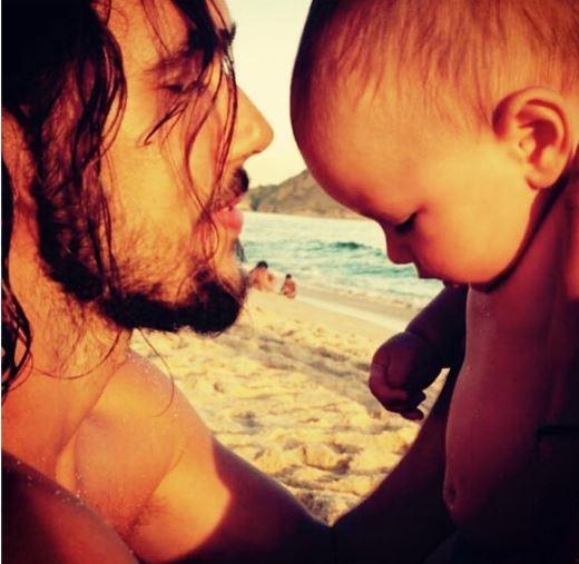 Bruno Ferrari com o filho (Foto: Reprodução/Instagram)