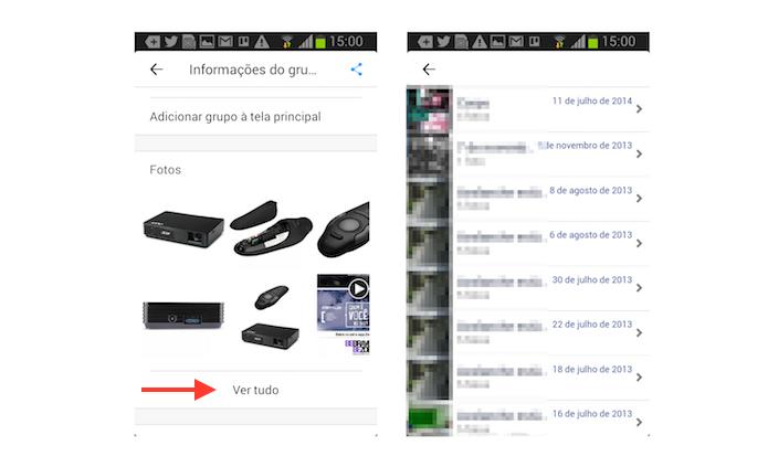 Acessando todas as imagens postadas em um grupo através do Facebook Groups para Android (Foto: Reprodução/Marvin Costa)