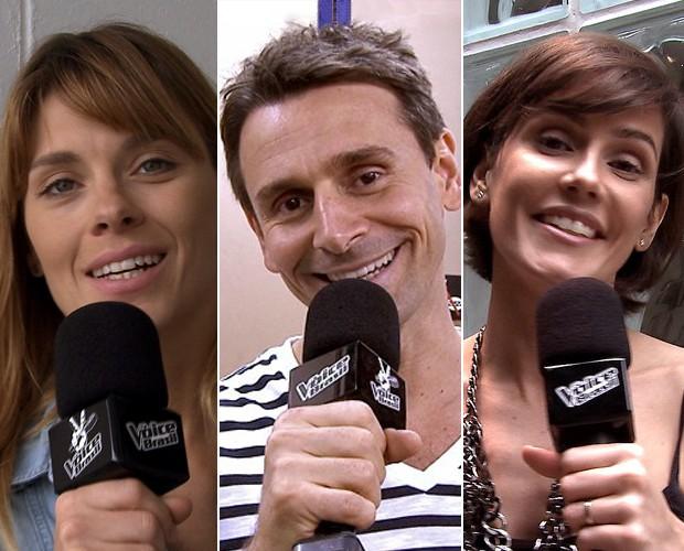 Carolina, Murilo e Deborah relembram trilhas que marcaram seus personagens (Foto: The Voice Brasil/ TV Globo)