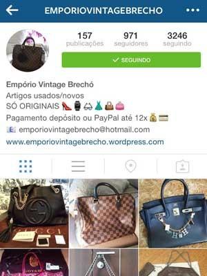 311e8dbf63d Publicação em rede social com anúncio de suposta venda de bolsas  mulher  foi presa por