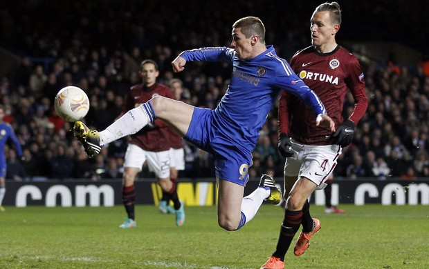 Fernando Torres, Chelsea X Sparta Praga (Foto: AFP)