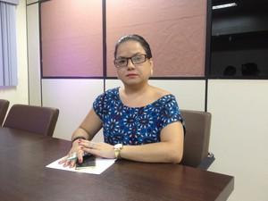 Telma Martins, secretária adjunta de gestão em saúde, sesa, amapá, (Foto: Fabiana Figueiredo/G1)