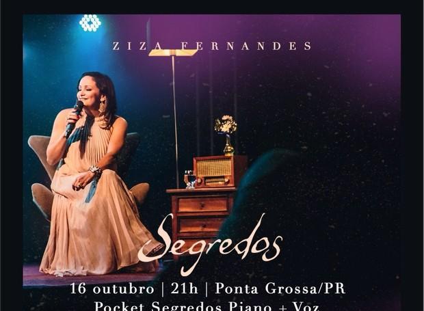 Show Ziza Fernandes (Foto: Divulgação/ Sesc)