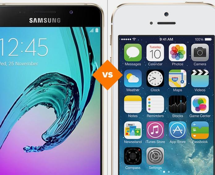 Galaxy A5 2016 ou iPhone 5S: comparativo avalia especificações dos celulares (Foto: Arte/TechTudo)