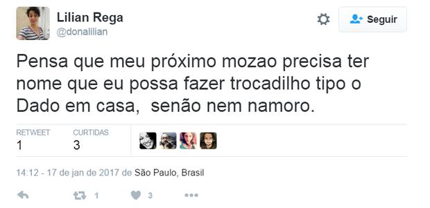 Comentários sobre legendas da namorada de Dado Dolabella (Foto: Reprodução/Twitter)