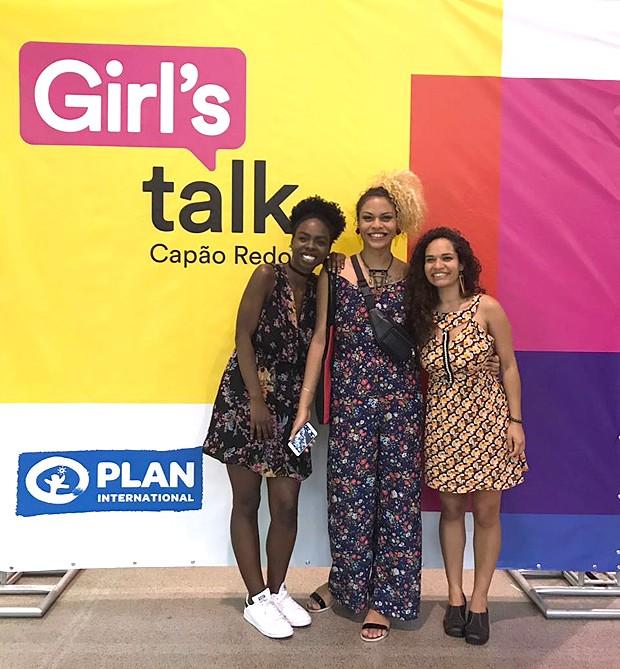 Gabi, Maria Clara e Jéssica: exemplos de mulheres (Foto: Cristiane Senna)