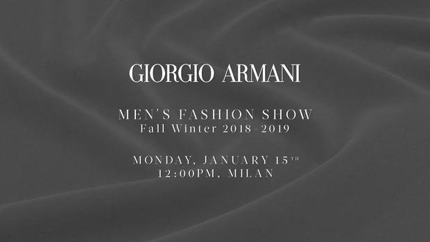 Giorgio Armani em Milão (Foto: Divulgação)
