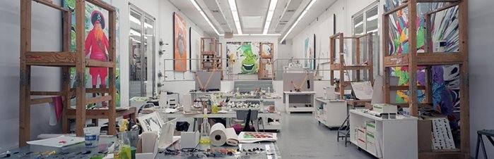 Estúdio do artista Jeff Koon, em Nova York. A foto é de 2005. (Foto: Reprodução)