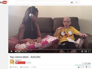 Segundo vídeo da Lorena tem mais de um milhão de visualizações  (Foto: Reprodução/Youtube/Careca TV)