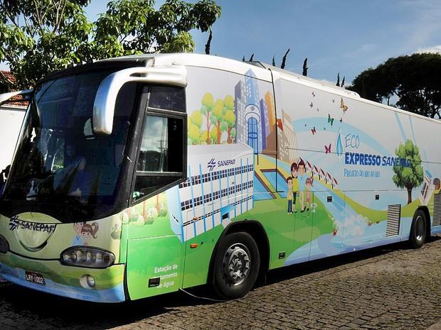 'EcoExpresso' foi equipado com maquetes e painéis  (Foto: Divulgação / AEN)