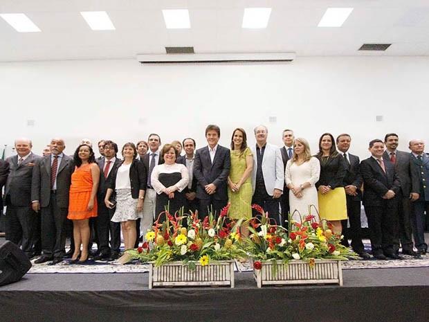 Cerimônio de posse dos secretários aconteceu nesta sexta-feira (2) (Foto: Elias Medeiros/G1)