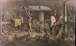 Navio negreiro trazia os escravos para o Brasil (Foto: Reprodução)