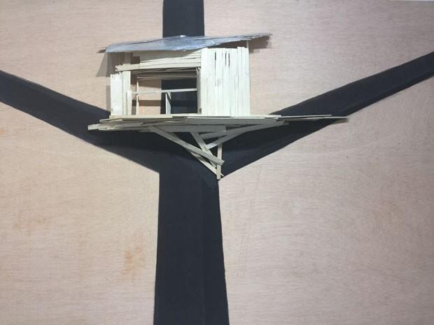 … e aqui Tree hut plan. No46, na galeria Kamel Mennour (Foto: Taissa Buescu)