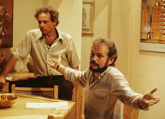 José Wilker viveu Rodrigo, dono de barcos de pesca de lagosta. Vivia uma relação conturbada com Débora (Natália do Vale). (Foto: Cedoc / TV Globo)