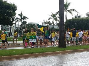 Protesto pedindo o impeachment da presidente Dilma Rousseff, em Sorriso. (Foto: Aline Dessbesell)