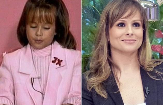 Duda Little ficou conhecida pela participação no filme 'Lua de cristal' (1990) e nos programas de Xuxa e de Os Trapalhões. Atualmente, é editora do 'Mais você' (Foto: TV Globo/Mais você)