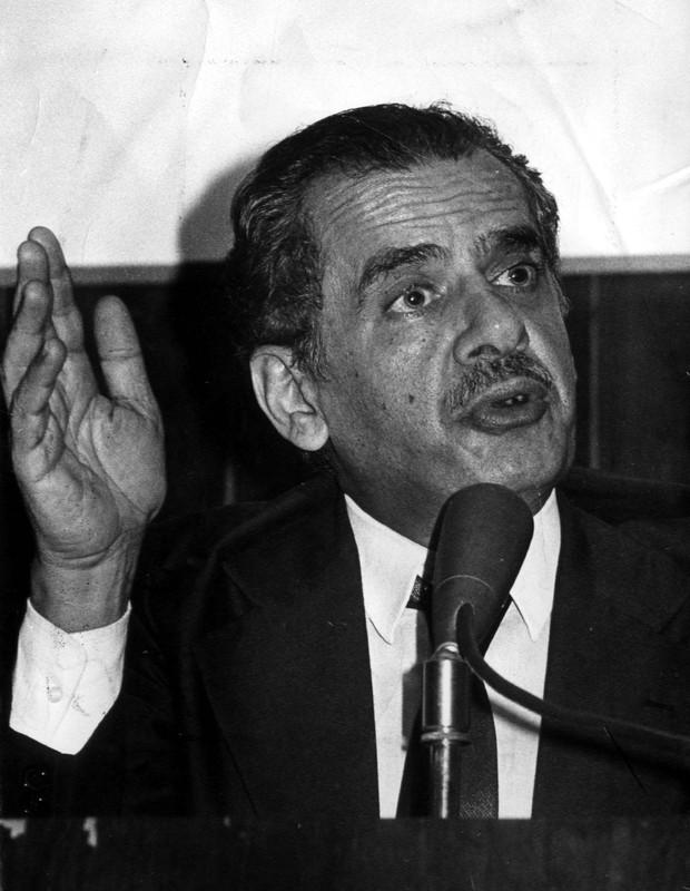 Pedro Simon, em foto de 1985 (Foto: Arquivo CB/D.A Press)