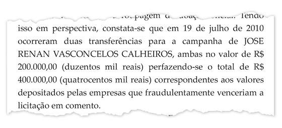 Trechos da decisão do Supremo sobre a quebra de sigilo de Renan (Foto: Reprodução)