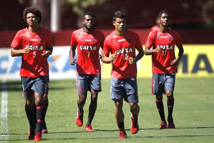 Treino físico Flamengo Ninho do Urubu (Foto: Gilvan de Souza / Flamengo)