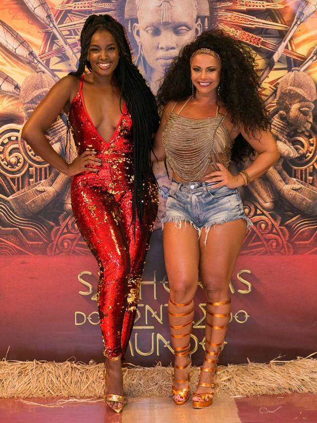 IZA e Viviane Araújo (Foto: Alex Nunes/Divulgação)