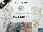 Passageiro de ônibus é preso com 30 sacolés de cocaína em Valença, RJ