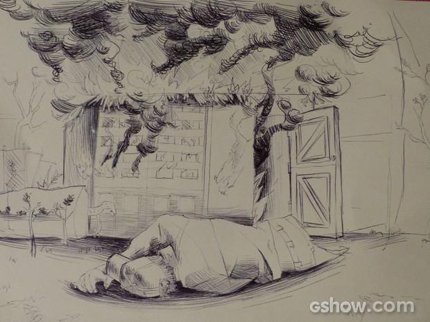 Será que é mesmo Antônio o dono do desenho? (Foto: Malhação / TV Globo)