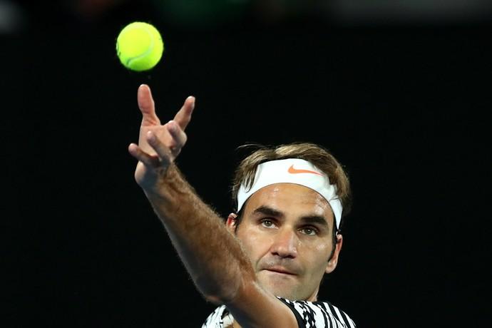 Roger Federer jogou muito contra Berdych em Melbourne (Foto: Cameron Spencer/Getty Images)