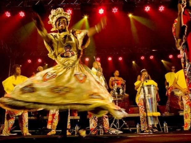 Bloco afro Ilê Aiyê se apresenta na reinauguração do Museu Capixaba do Negro (Foto: Divulgação/PMV)