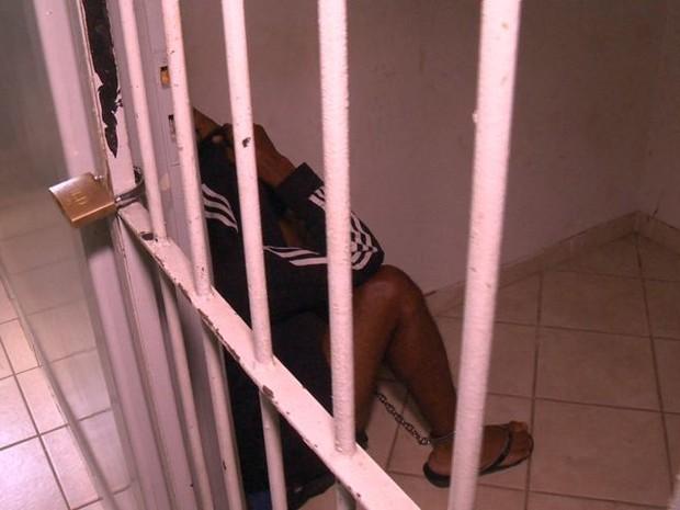 Suspeito negou ter cometido os crimes (Foto: Reprodução/ TV Gazeta)