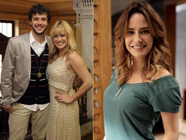 Em seu último papel na TV Globo, a atriz usava somente as pontas do cabelo mais claras (Foto: Pedro Paulo Figueiredo/Globo)