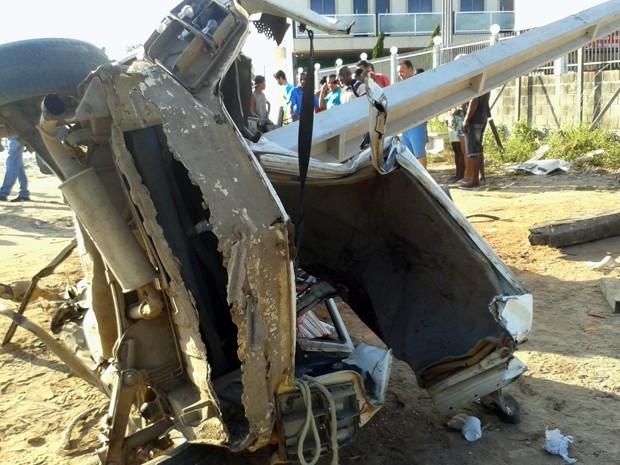 Acidente (Foto: Viviane Moreia / Site opovonews.com.br)