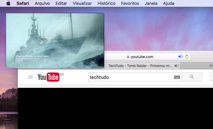 Aprenda a usar a função Picture-in-Picture do Safari em vídeos no macOS (Foto: Reprodução/Edivaldo Brito)