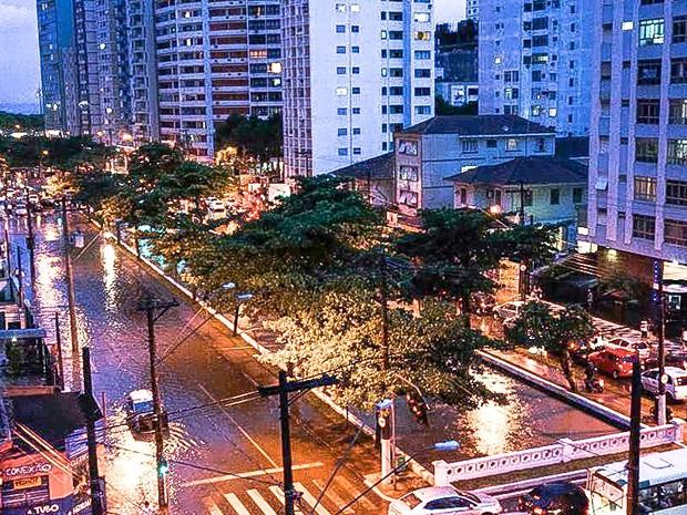 Avenida Pinheiro Machado e Canal 1 em 2014 (Foto: Marcos Valim/Arquivo Pessoal)