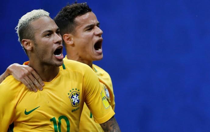 Neymar e Coutinho (Foto: Reuters)