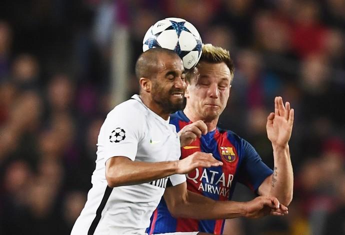 Lucas PSG x Barcelona (Foto: AFP)
