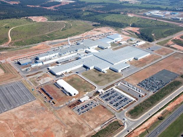 Vista aérea da fábrica em Sorocaba (Foto: Divulgação)