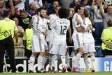 Real Madrid x Basel - merengues comemoram gol