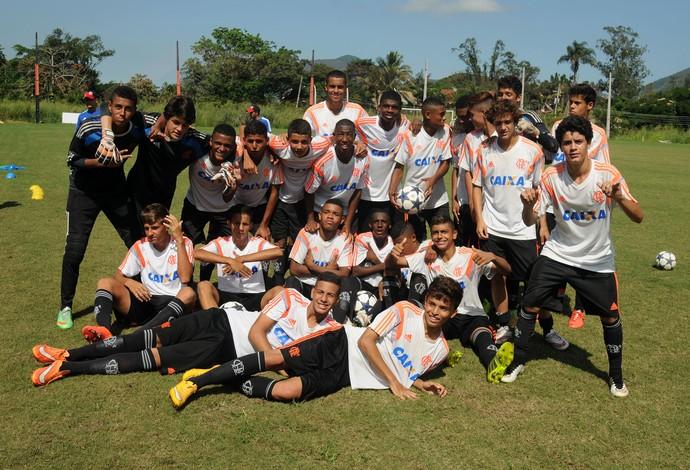 Equipe Sub-15 do Flamengo Geração 2000 (Foto: André Durão/GloboEsporte.com)