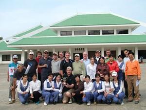 Turistas na Coreia do Norte, levados pela Lupine Travel (Foto: Lupine Travel/Divulgação)
