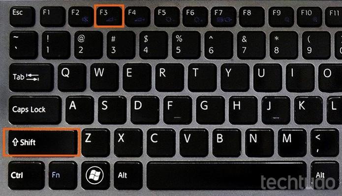Atalho Shift + F3 para alternar entre letras em Caps Lock (Foto: Barbara Mannara/TechTudo)