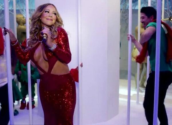 Mariah Carey no clipe com a presença de seu namorado, Bryan Tanaka (Foto: Instagram)
