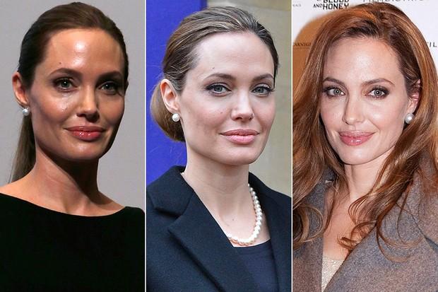Jóias com pérolas - Angelina Jolie (Foto: Reuters)