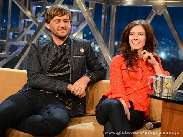 Marjorie Estiano e André Frateschi participam do Programa do Jô (Foto: TV Globo/Programa do Jô)
