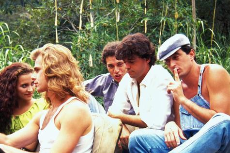 Gabriela Alves, João Vitti, Paulo Gorgulho, Felipe Camargo e Eduardo Galvão (Foto: TV Globo)